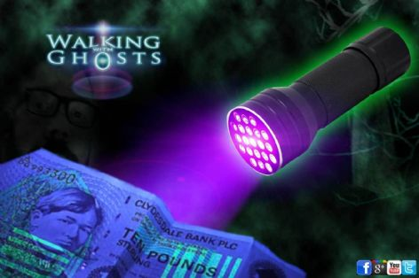 Ultraviolet UV 21 LED Flashlight Torch Ghost Hunt Paranormal Forensic  UK